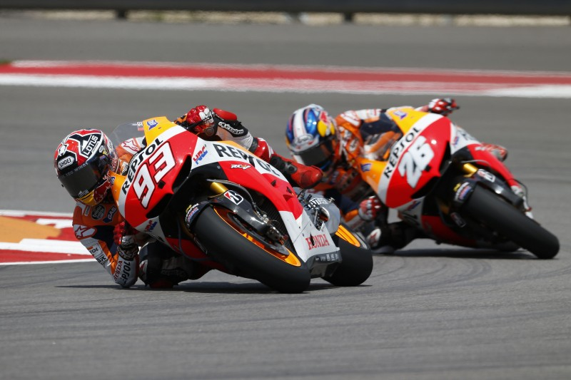 Marquez takes first MotoGP victory in fantastic Repsol Honda 1-2