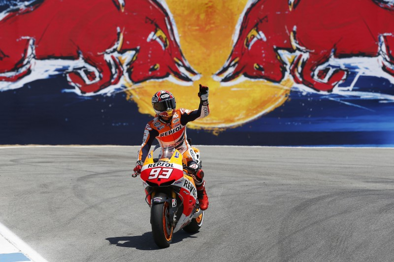 Marquez becomes first rookie to win at Laguna Seca and Pedrosa secures important points with 5th