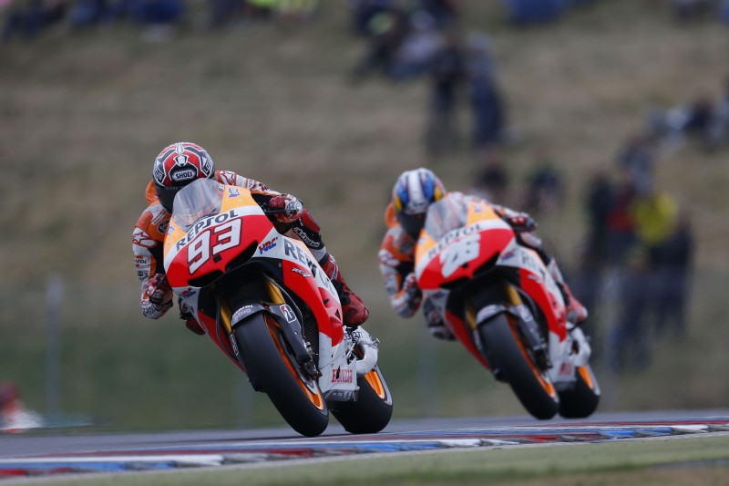 Four in a row for Marquez and Pedrosa makes it a fourth 1-2 for Repsol Honda