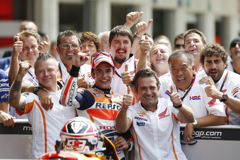 Magnificent Marquez completes a perfect weekend with teammate Pedrosa in 2nd