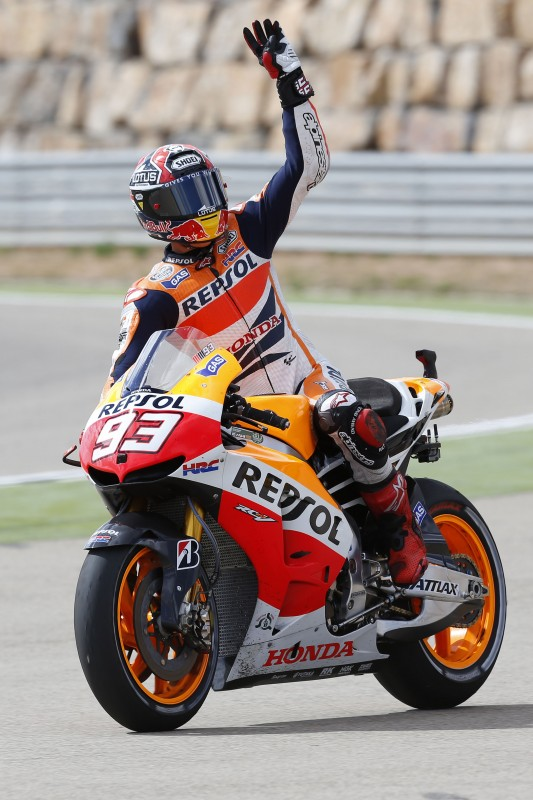 Marquez takes sixth win and extends lead after incident with Pedrosa