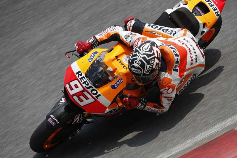 Marquez remains fastest in Sepang with new record lap