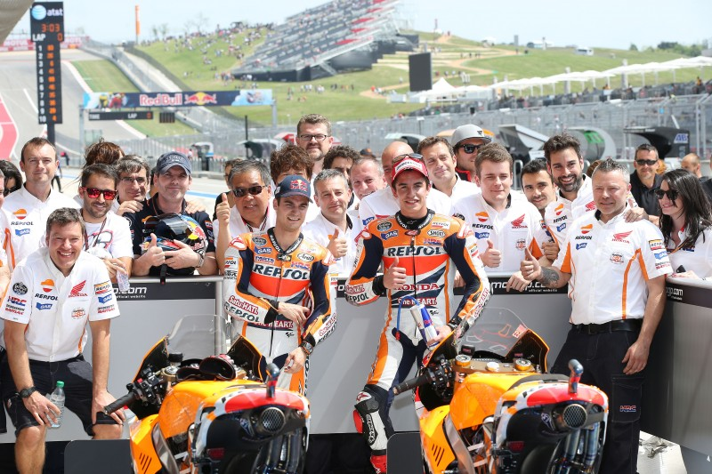 Marquez takes pole in Austin with Pedrosa 2nd in all-Honda front row