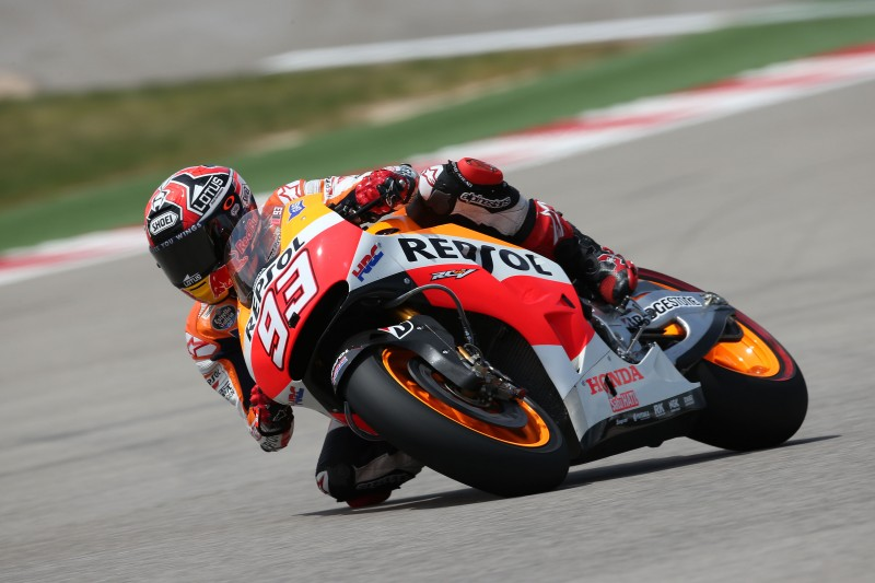 Marquez remains fastest on first day at the Red Bull GP of The Americas