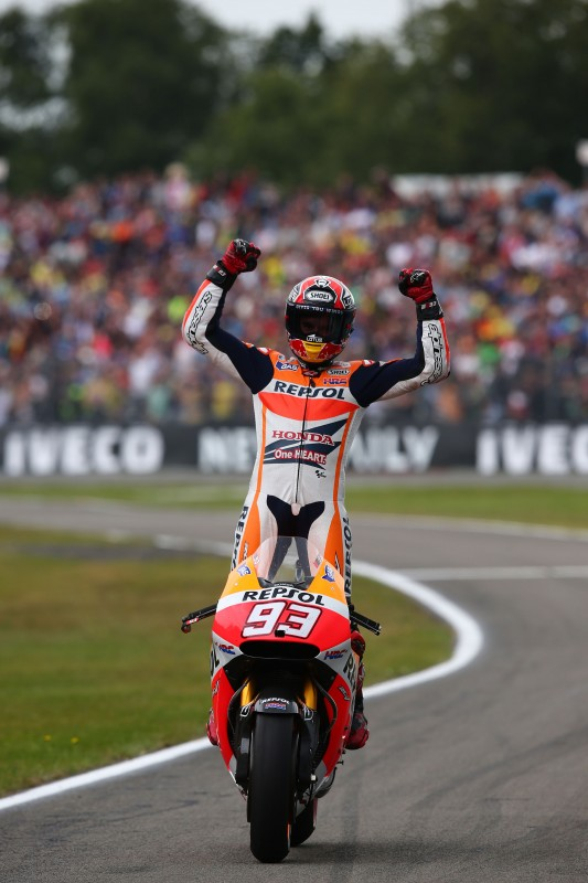 Marquez makes it a perfect eight after dramatic Dutch TT