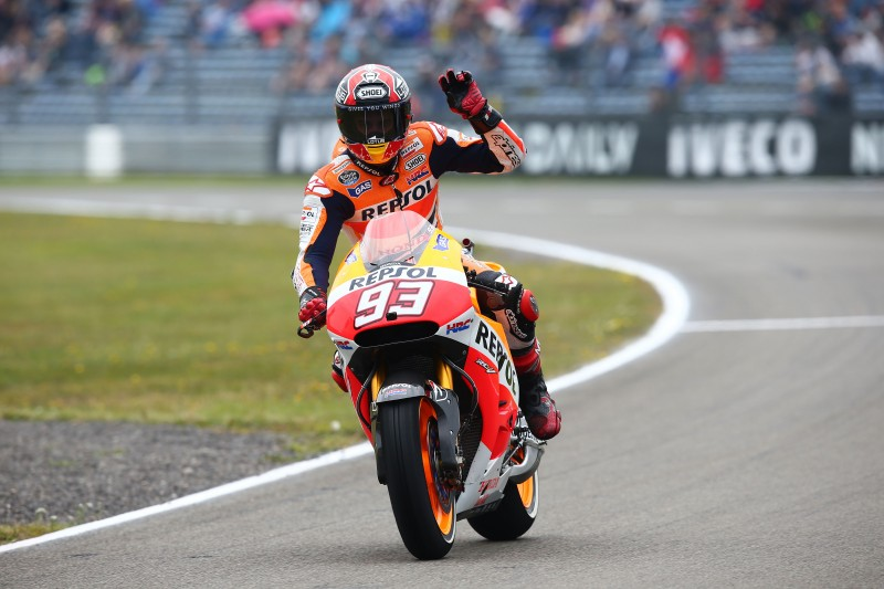 Double Front Row Start for Repsol Honda after Erratic Weather Causes Havoc in Assen