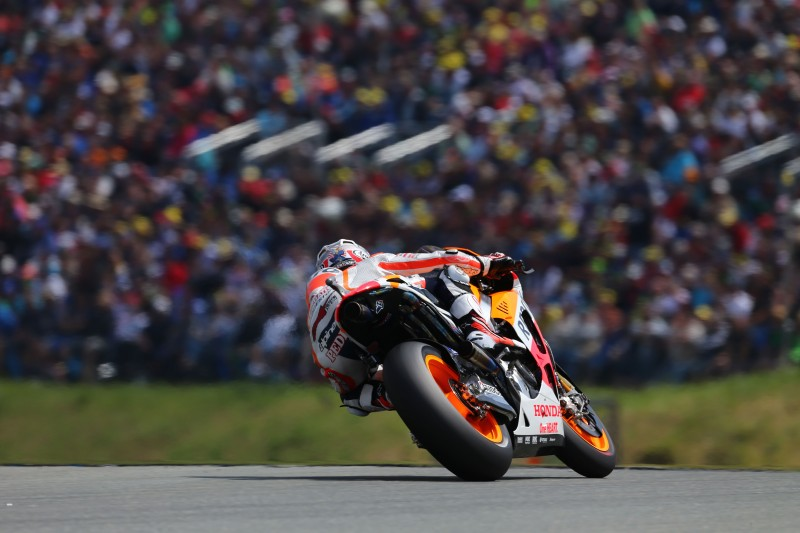Marquez takes new pole record as Honda lock out Sachsenring front row