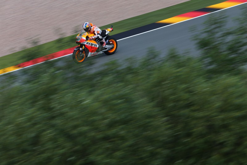 Tough first day in Germany for Marquez and Pedrosa