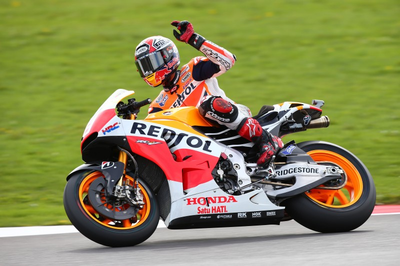 Marquez takes tenth pole of the season in Britain with Pedrosa in 5th
