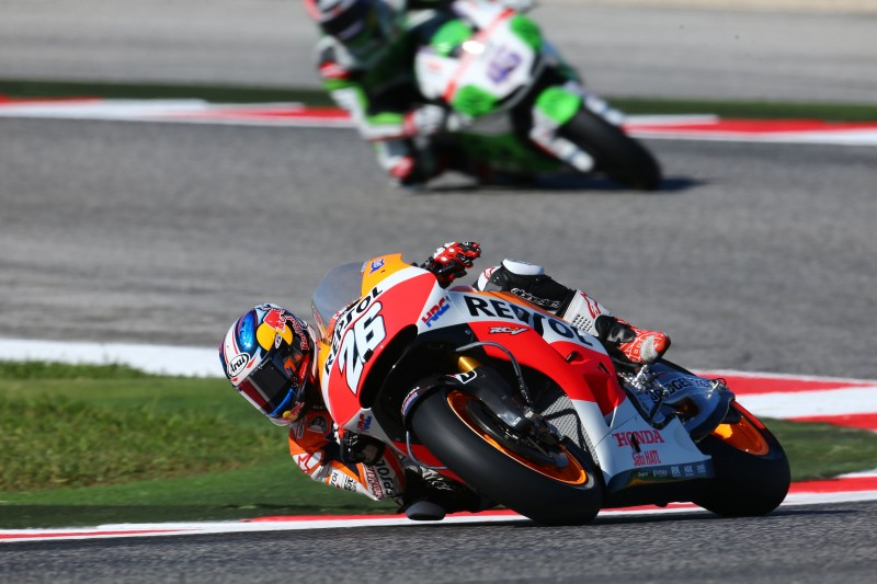 Marquez and Pedrosa miss front row by a fraction of a second