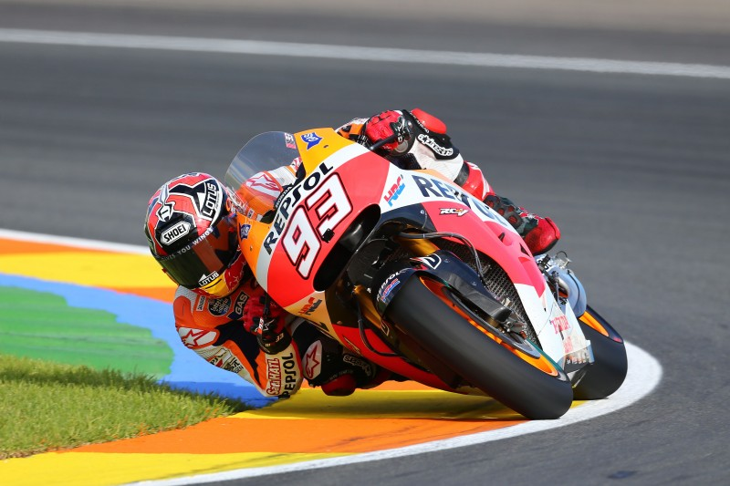 World Champion Marquez leads the way on day one in Valencia