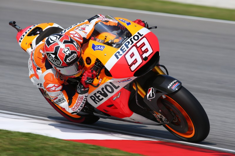 Marquez takes 50th career pole and new Sepang record with Dani in second