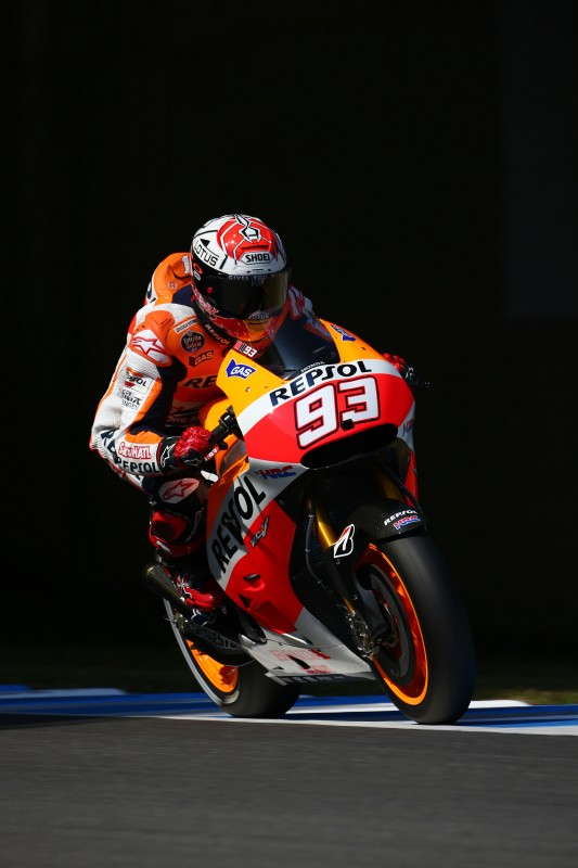 Front row start for Pedrosa in 3rd with Marquez in 4th for GP of Japan
