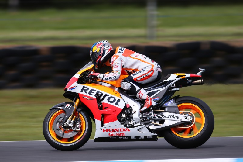 Heartache for Repsol Honda after Pedrosa is taken out and Marquez crashes in final stages of Australian GP
