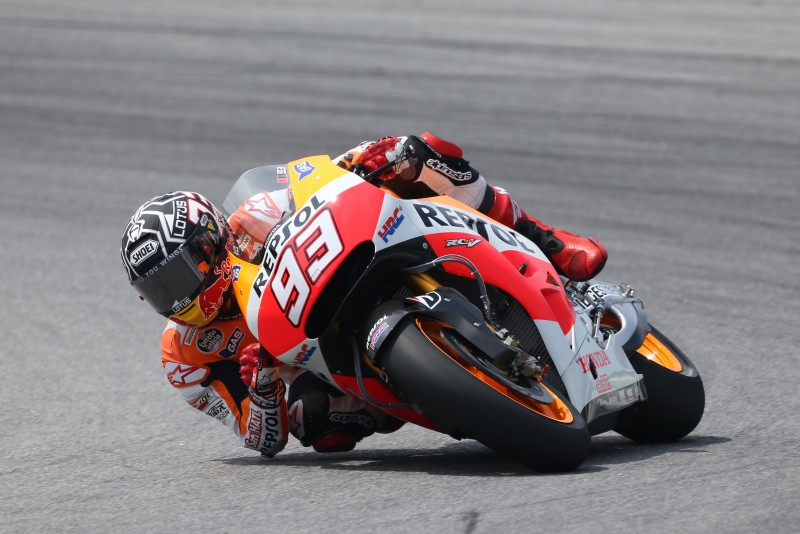 World Champion Marquez back on top in Sepang with Pedrosa third
