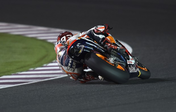 Marquez maintains Doha domination breaking circuit lap record