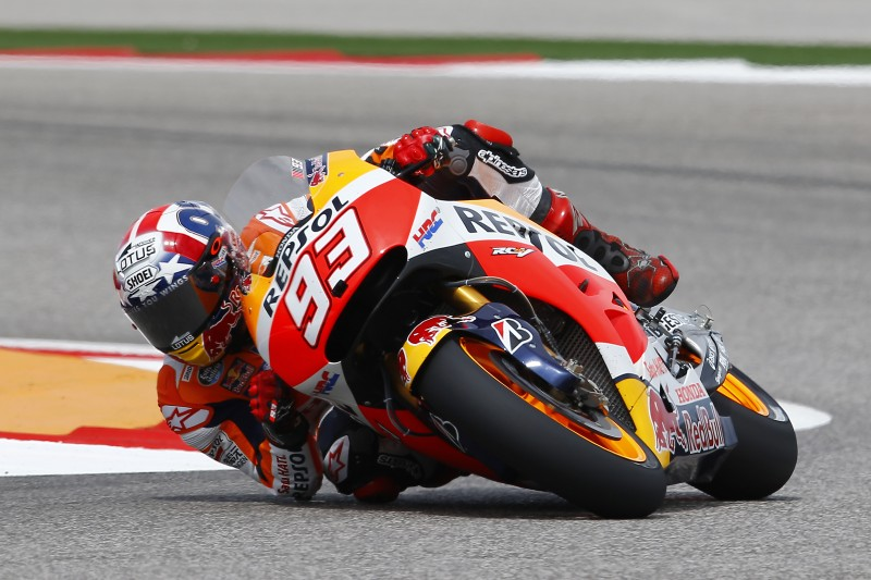 Repsol Honda's Marquez top on day one in Austin