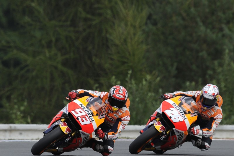 Second for Marquez in Brno with injured Pedrosa on third row