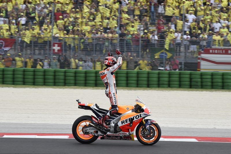 Marquez wins chaotic Misano GP in mixed conditions with Pedrosa 9th