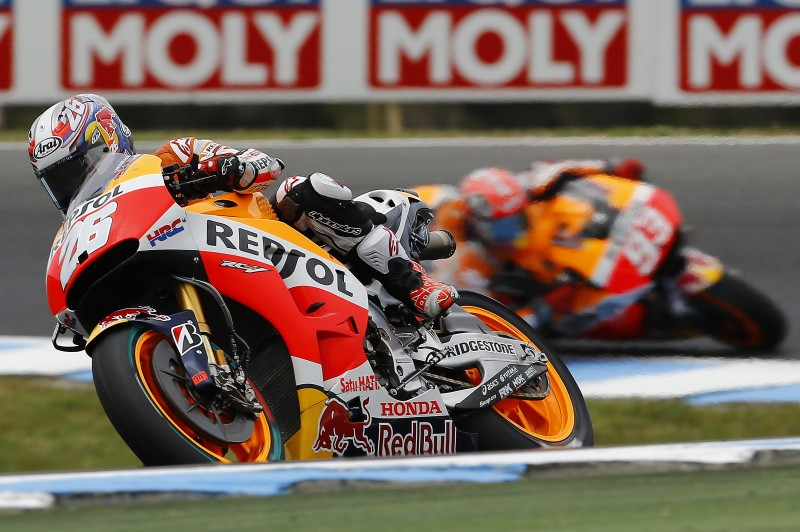 Marquez takes blistering pole in Australia with heartache for Pedrosa in 4th