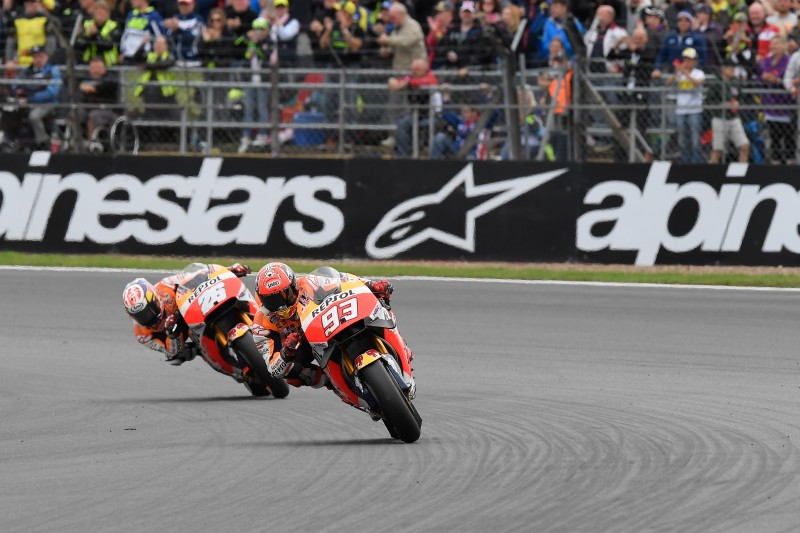 Marquez fourth, Pedrosa fifth in hard-fought British GP