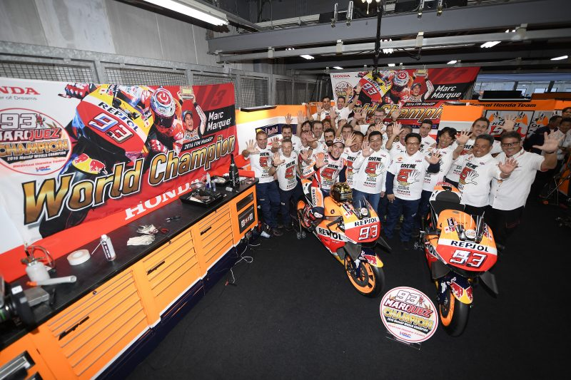 Marc Marquez crowned 2016 World Champion at Motegi