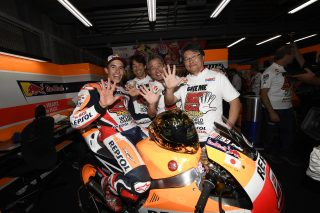 2016 MotoGP World Champion Marc Marquez  and team