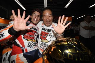2016 MotoGP World Champion Marc Marquez  and Shuhei Nakamoto