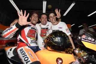 2016 MotoGP World Champion Marc Marquez , Julià Marquez and Alex Marquez