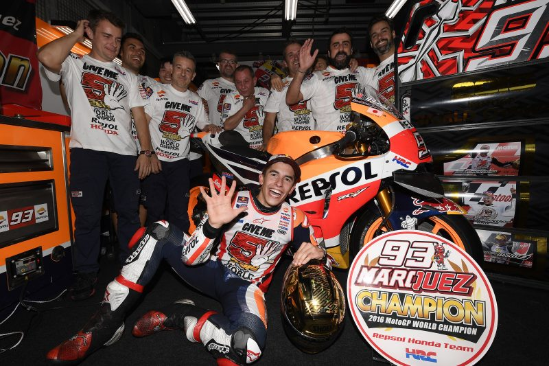 2016 World Champion Marquez and Repsol Honda Team en route to Australia. Nicky Hayden to replace Pedrosa