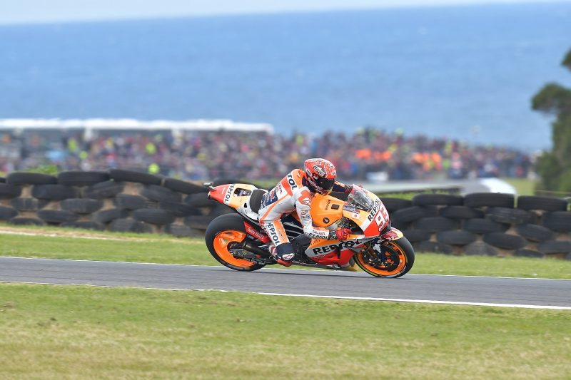 Marquez crashes out of the lead, Hayden slides off while battling for seventh