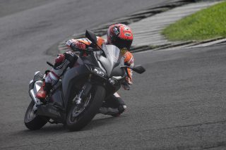 Marc riding the new Honda CBR250RRMarc Marquez with the new Honda CBR250RR