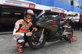 Marc riding the new Honda CBR250RR
