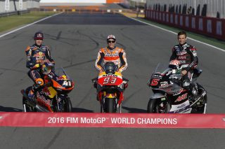 The three 2016 World Champions