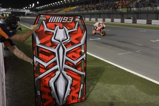 Marc Marquez new pit board - Qatar GP