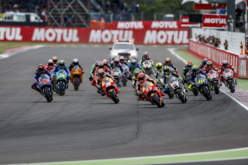 Marquez crashes out of the lead in Argentina, Pedrosa from fourth