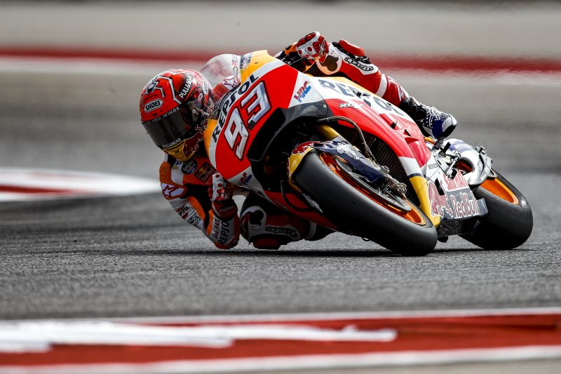 Marquez fastest on day one at the Red Bull GP of the Americas, with Pedrosa fifth