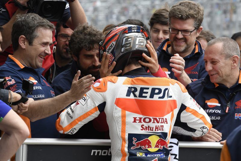 Marquez's fifth consecutive pole at Austin, Pedrosa just off front row in fourth