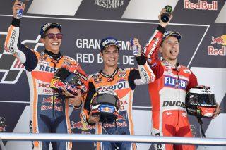 Marc Marquez, Dani Pedrosa and Jorge Lorenzo- Spanish GP