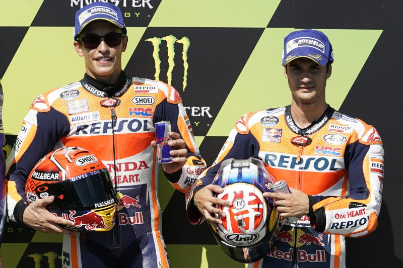 Marquez storms to pole in sunny Brno, Pedrosa close on front row