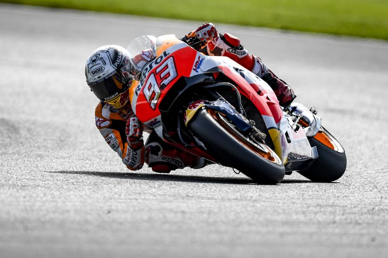 Up-and-down day for the Repsol Honda Team at Silverstone