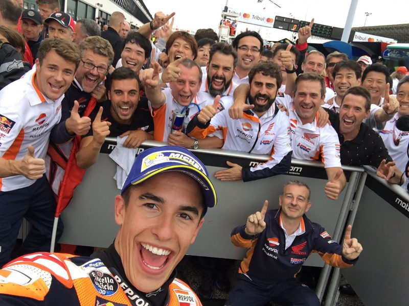 Powerful win for Marquez at wet Misano to take back the Championship lead