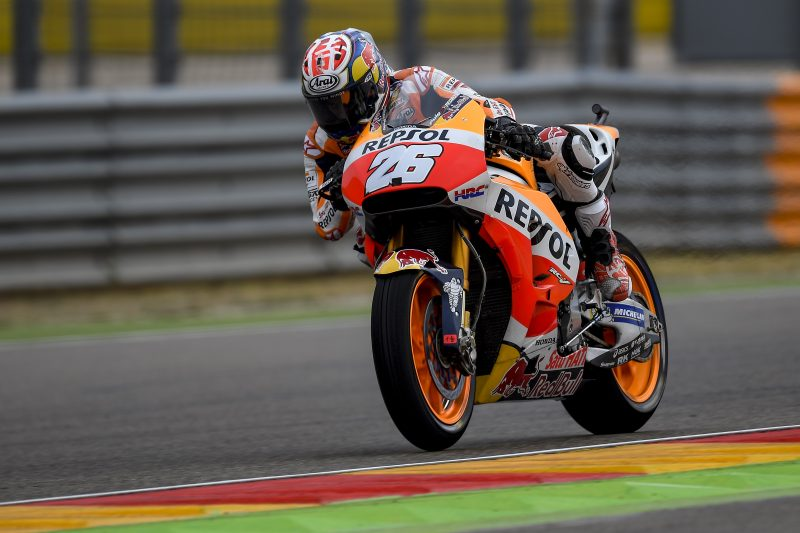 Pedrosa tops the standings at Aragon in the wet, with Marquez fourth overall