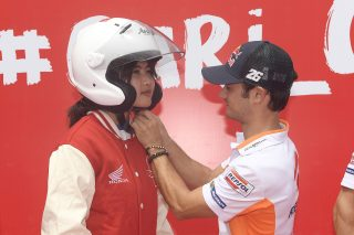 Pedrosa support Cari Aman Safety Riding campaign