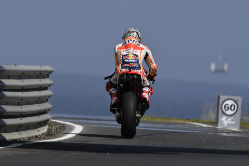 Marquez second fastest on day one at Phillip Island, Pedrosa ninth