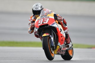 "Marc Marquez  ""All in all I'm happy with today, as it wasn't perfect but wasn't bad either. We had two different weather conditions and in both cases we weren't far from the top, even if we must improve some aspects of the setup as we look to find more rear grip. It's still a bit difficult to understand where we really are in the dry because this morning some riders put on a new tyre in the end, while some others, myself included, did the entire session on the same tyres. Anyway, even if Dovi was a bit faster than us, we were able to stay there with the top guys. We know this is one of the tracks where we struggle most during the season, but at the moment we'll try and keep working well for the rest of the weekend in order to be ready for Sunday.""  Dani Pedrosa ""This morning we weren't able to do many laps because we had an issue on one of our bikes and had to spend some time in the garage to fix it, as the other one was set for the wet. Actually, I was really only able to use the last five minutes of the session. In the afternoon, unfortunately we struggled again to find grip with the rear tyre in the wet. We tried three different tyres with no improvement. It's a bit difficult for us to understand why that was the case, as this situation has also occurred at other tracks in the past. Sometimes I'm able to put heat into the tyres and ride fast, but other times I'm not, even if the conditions are the same. We'll see what the weather conditions are like tomorrow and keep working to try and improve."""