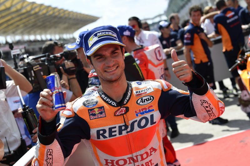 Pedrosa takes impressive pole position at Sepang, Marquez seventh despite early crash