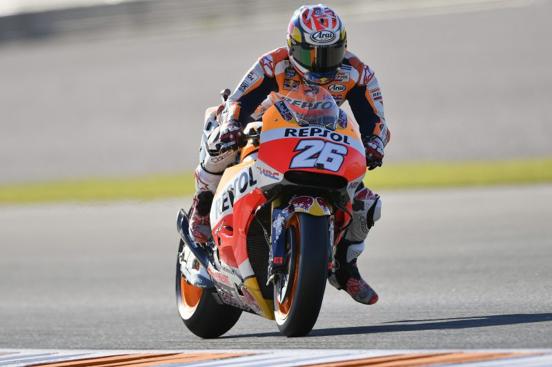 Pedrosa second fastest on day one in Valencia with Marquez in close fifth place