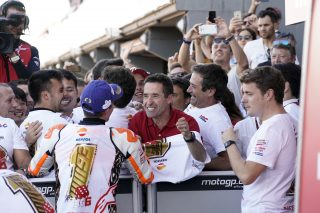 Marquez and his father
