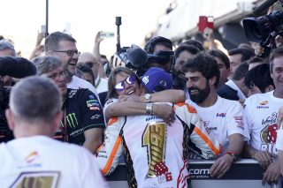 Marquez and his mother